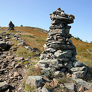 This is the image for August in the 2017 White Mountains New Hampshire calendar. Rock cairns near the summit of Mount Moosilauke. The calendar can be purchased here: http://bit.ly/220sKru