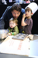 LOS ANGELES, CA, USA - MARCH 22: Misha Collins, West Collins, Maison Collins at the All-Star Chef Classic - All-Star Lunch held at L.A. Live on March 22, 2014 in Los Angeles, California, United States. (Photo by David Acosta/Celebrity Monitor)