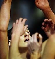 Thunderbirds goalshoot Kate Beveridge during the ANZ Netball Championship match between the Waikato Bay of Plenty Magic and Adelaide Thunderbirds, Mystery Creek Events Centre, Hamilton, New Zealand on Sunday 19 July 2009. Photo: Dave Lintott / lintottphoto.co.nz