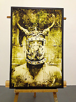 "Warrior, 34"" x 52"" x 1 1/4"", Digital Print on Canvas, ROLLED RENTAL, Matte Finish"