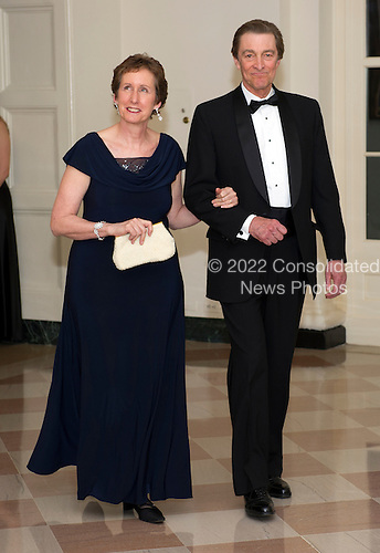 Martha Johnson, Administrator of the United States General Services and Steve Johnson, arrive for the Official Dinner in honor of Prime Minister David Cameron of Great Britain and his wife, Samantha, at the White House in Washington, D.C. on Tuesday, March 14, 2012..Credit: Ron Sachs / CNP.(RESTRICTION: NO New York or New Jersey Newspapers or newspapers within a 75 mile radius of New York City)