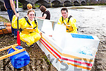 Rebecca Maunsel and Mike Foley who managed to stay on their raft at the annual Killorglin raft race on Friday evening