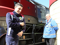 Burnley's Matthew Lowton is all smiles as he heads into the ground<br /> <br /> Photographer David Shipman/CameraSport<br /> <br /> The Premier League - Middlesbrough v Burnley - Saturday 8th April 2017 - Riverside Stadium - Middlesbrough<br /> <br /> World Copyright &copy; 2017 CameraSport. All rights reserved. 43 Linden Ave. Countesthorpe. Leicester. England. LE8 5PG - Tel: +44 (0) 116 277 4147 - admin@camerasport.com - www.camerasport.com