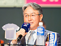 Kim Kyeong-Mun, Mar 28, 2016 : South Korean baseball team NC Dinos' manager Kim Kyeong-Mun attends a media day and fanfest of 10 clubs in the Korea Baseball Organization (KBO) in Seoul, South Korea. (Photo by Lee Jae-Won/AFLO) (SOUTH KOREA)