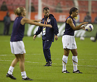 USA women's national team head coach Greg Ryan. The United States (USA) defeated Nigeria (NGA), 1-0 during their Group B first round game at Hongkou Stadium in Shanghai, China on September 18, 2007.