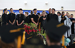 The Western Nevada Musical Theatre Company sings the National Anthem at the 45th annual Western Nevada College Commencement ceremony in Carson City, Nev., on Monday, May 23, 2016. A record 556 graduates received 598 degrees.<br />