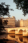 Paris, France, River Seine, Pont Royal, architecture of the Left bank, 6th Arondissement, Europe..