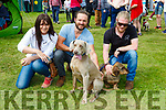 Niamh Horan, Blane Lyne and Kevin Leahy Killarney with Joey and Bobs at the Killarney Canine and District dog show on Tuesday