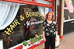 Precision Hair and Beauty Manager Ann Ryan in front of the store...Picture: Shane Maguire / www.newsfile.ie.