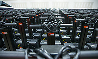 Voting machines sit in rows Thursday, Feb. 13, 2020, before being loaded into a truck at the Benton County Election Commission office in Rogers. Staff began distributing equipment Thursday to the 36 vote centers for the March 3 primary election. Check out nwaonline.com/200214Daily/ for today's photo gallery.<br /> (NWA Democrat-Gazette/Ben Goff)