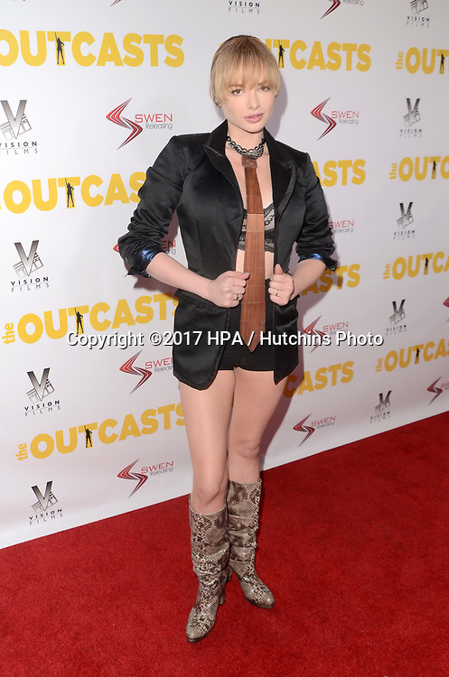 """LOS ANGELES - APR 13:  Ashley Rickards at the """"The Outcasts"""" Premiere at the Landmark Regent Theater on April 13, 2017 in Westwood, CA"""