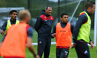Pictured: Manager Paul Clement observes his players train. Tuesday 11 July 2017<br /> Re: Swansea City FC training at Fairwood training ground, UK