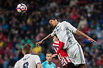 Atletic de Bilbao's Aymeric Laporte and Real Madrid's Raphael Varane during the match of La Liga between Real Madrid and Athletic Club at Santiago  Bernabeu Stadium in Madrid, Spain. October 23, 2016. (ALTERPHOTOS/Rodrigo Jimenez)