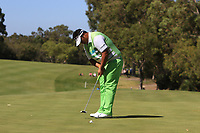 Kiradech Aphibarnrat (THA) makes the putt on the 6th to go through to the Matchplay Final of the ISPS Handa World Super 6 Perth at Lake Karrinyup Country Club on the Sunday 11th February 2018.<br /> Picture:  Thos Caffrey / www.golffile.ie<br /> <br /> All photo usage must carry mandatory copyright credit (&copy; Golffile | Thos Caffrey)