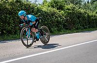 Pello Bilbao (ESP/Astana) in a tuck TT position<br /> <br /> Stage 21 (ITT): Verona to Verona (17km)<br /> 102nd Giro d'Italia 2019<br /> <br /> ©kramon