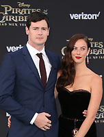 "HOLLYWOOD, CA - May 18: Benjamin Walker, Kaya Scodelario, At Premiere Of Disney's ""Pirates Of The Caribbean: Dead Men Tell No Tales"" At Dolby Theatre In California on May 18, 2017. Credit: FS/MediaPunch"