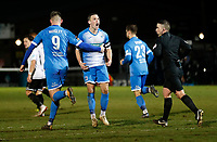 Joh Rooney celebrates his goal for Barrow during Dover Athletic vs Barrow, Vanarama National League Football at the Crabble Athletic Ground on 4th February 2020