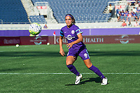 Orlando, Florida - Sunday, May 8, 2016: Orlando Pride defender Monica Hickman Alves (21) during a National Women's Soccer League match between Orlando Pride and Seattle Reign FC at Camping World Stadium.