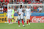 England's Demarai Gray looks on dejected after Germany's opening goal during the UEFA Under 21 Semi Final at the Stadion Miejski Tychy in Tychy. Picture date 27th June 2017. Picture credit should read: David Klein/Sportimage