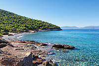 Dragonera beach in Agistri island, Greece