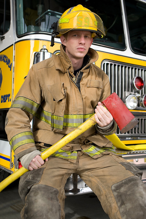Volunteer firefighter Lieutenant Justin Lenker has served with the Lower Swatara Fire Department for five years.