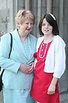 Dénagh O'Reilly with her nan, Roisin Carton at the Confirmation in St.Mary's Church...Photo NEWSFILE/Jenny Matthews.(Photo credit should read Jenny Matthews/NEWSFILE)....This Picture has been sent you under the condtions enclosed by:.Newsfile Ltd..The Studio,.Millmount Abbey,.Drogheda,.Co Meath..Ireland..Tel: +353(0)41-9871240.Fax: +353(0)41-9871260.GSM: +353(0)86-2500958.email: pictures@newsfile.ie.www.newsfile.ie.FTP: 193.120.102.198.