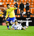 Valencia CF's  Rodrigo and UD Las Palmas'  Culio during spanish King's Cup match. January 21, 2016. (ALTERPHOTOS/Javier Comos)