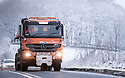 25/11/17<br /> <br /> A gritter treats the A515 near Flagg in the Derbyshire Peak District.<br />  <br /> All Rights Reserved F Stop Press Ltd. +44 (0)1335 344240 +44 (0)7765 242650  www.fstoppress.com