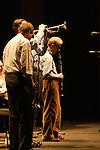 *** EXCLUSIVE Coverage ***.Woody Allen and his New Orleans Jazz Band performing at Placio De Los Congresos y De La Musica Euskalduna in Bilbao, Spain..( with Jerry Zigmont and Simon Wettenhall ).December 29, 2004.© Walter McBride /