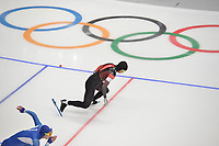 OLYMPIC GAMES: PYEONGCHANG: 19-02-2018, Gangneung Oval, Long Track, 500m Men, Gilmore Junio (CAN), ©photo Martin de Jong