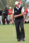 Phil Mickelson lines up his putt on the 8th green on day two of the Abu Dhabi HSBC Golf Championship 2011, at the Abu Dhabi golf club, UAE. 21/1/11..Picture Fran Caffrey/www.golffile.ie.