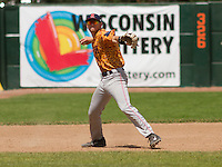 GREEN BAY - June 2015: Kenosha Kingfish infielder Brody Westmoreland (19) during a Northwoods League game against the Green Bay Bullfrogs on June 21st, 2015 at Joannes Park in Green Bay, Wisconsin. Green Bay defeated Kenosha 10-7. (Brad Krause/Krause Sports Photography)