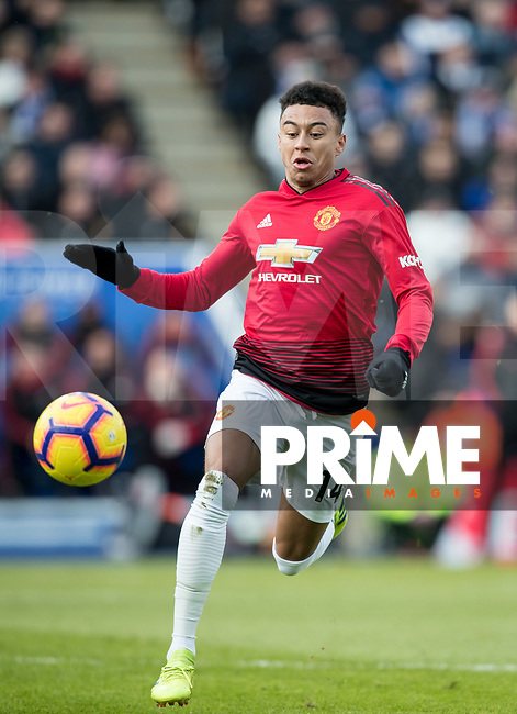 Jesse Lingard of Man Utd during the Premier League match between Leicester City and Manchester United at the King Power Stadium, Leicester, England on 3 February 2019. Photo by Andy Rowland.