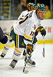 16 November 2008: University of Vermont Catamount forward Chris Atkinson, a Sophomore from Sparta, NJ, in action against the Merrimack College Warriors at Gutterson Fieldhouse, in Burlington, Vermont. The Catamounts defeated the Warriors 2-1 in front of a near-capacity crowd of 3,813...Mandatory Photo Credit: Ed Wolfstein Photo