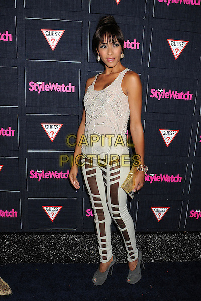 Dania Ramirez.People StyleWatch hosts Hollywood Demin Party in honor of 2nd Annual Denim Issue held at Palihouse, West Hollywood, California USA..20th September 2012.full length  white silver brown pattern trousers top sleeveless clutch bag.CAP/ADM/BP.©Byron Purvis/AdMedia/Capital Pictures.