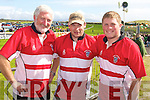 RUBGY AT THE RACES: Member's of the Chorca Dhuibhne RFC enjoying the Dingle Races on Friday l-r: Tom Hand, Sean Paidi and Declan Hand.