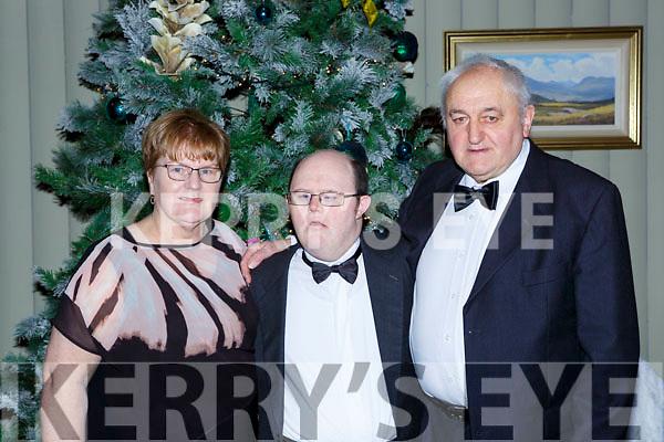 Breda, Timmy Dan and Tim O'Sullivan at the Kerry Stars ball in the Malton Hotel on Saturday night