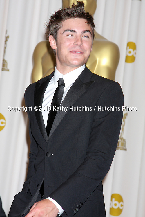 Zac Efron.in the Press Room of the 82nd Academy Awards.Kodak Theater.Los Angeles, CA.March 7, 2010.©2010 Kathy Hutchins / Hutchins Photo....