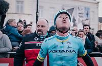Michael Valgren (DEN/Astana) wins the 2018 Omloop Het Nieuwsblad<br /> <br /> Gent &rsaquo; Meerbeke: 196km (BELGIUM)