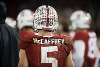 Stanford, CA - November 26, 2016: Christian McCaffrey during the Stanford vs Rice game Saturday at Stanford Stadium.<br /> <br /> Stanford won 41- 17.