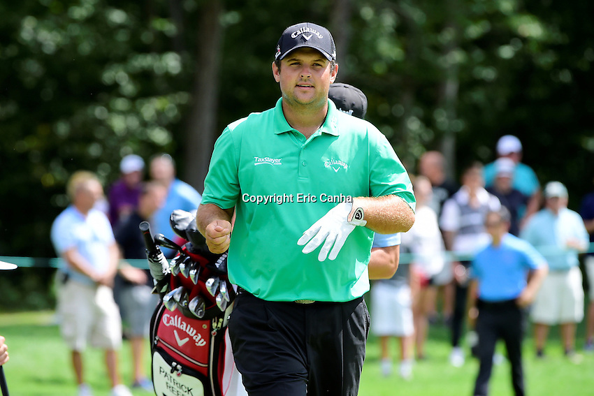 Friday, September 2, 2016:  Patrick Reed leaves the on the seventh green during the first round of the Deutsche Bank Championship tournament held at the Tournament Players Club, in Norton, Massachusetts.  Eric Canha/Cal Sport Media