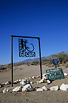 Sign at the turnoff for Camp Gecko, Bahia de los Angeles, Baja California, Mexico
