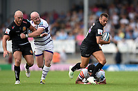 Phil Dollman of Exeter Chiefs takes on the Leicester Tigers defence. Gallagher Premiership match, between Exeter Chiefs and Leicester Tigers on September 1, 2018 at Sandy Park in Exeter, England. Photo by: Patrick Khachfe / JMP