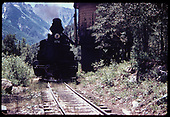 &quot;276-21 Water stop a few miles below Silverton.&quot;<br /> D&amp;RGW  below Silverton, CO  Taken by Owen, Mac - 6/1975