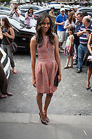 News Pictures---.07-03-2012, PARIS.Giorgio ARmani Prive Fashion Show during the fashion week .Ph: Zoe Seldana  .. / Mediapunchinc