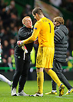 Neil Lennon and Fraser Forster