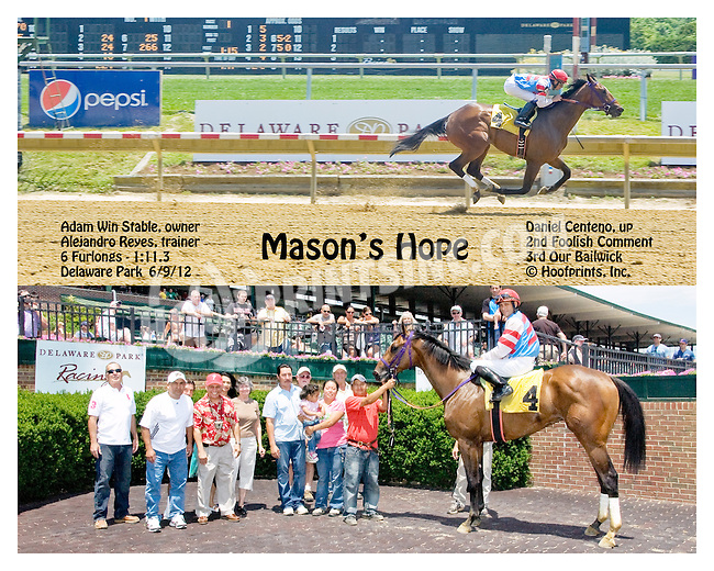 Mason's Hope winning at Delaware Park  on 6/9/12
