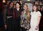 NJ Agwuna, Lindsey Hope, Bonnie Comley,  and Rebecca Marzalek-Kelly attends the 2019 Drama League Nominees Announcement at Sardi's on April 17, 2019 in New York City.