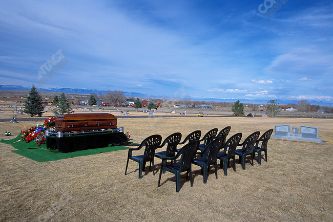 Funeral for Marine Lt. Therrell Shane Childers, the first American combat death of the Second Gulf War. &amp;#xD;Powell, Wyoming, USA, April 2003&amp;#xD;<br />