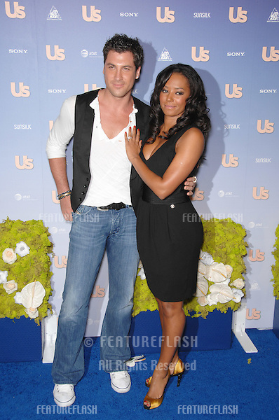 """Spice Girl"" Melanie Brown aka Mel B & Maksim Chmerkovskiy at Us Weekly Magazine's Hot Hollywood Party at Opera nightclub in Hollywood..September 27, 2007  Los Angeles, CA.Picture: Paul Smith / Featureflash"